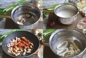 Теплый салат из морепродуктов - фото шаг 2