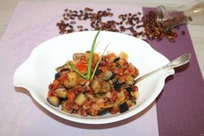Салат с баклажанами и фасолью - фото шаг 14