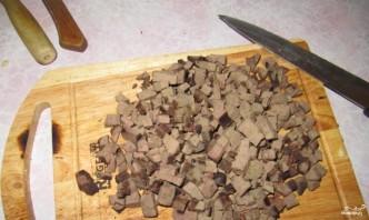 Печень с вешенками - фото шаг 2