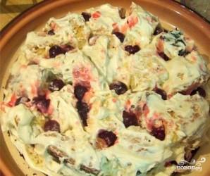 Вишневый бисквитный торт - фото шаг 5
