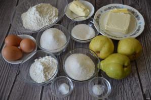 Грушевый пирог с карамельной заливкой - фото шаг 1