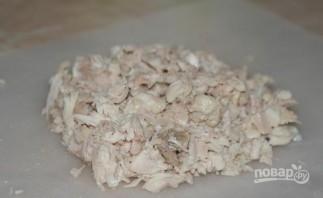 Салат с курицей, грибами и сыром - фото шаг 2