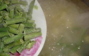 Суп куриный со стручковой фасолью - фото шаг 5