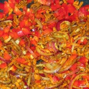Коричневый рис с овощами - фото шаг 4