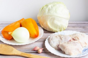 "Курица с овощами ""Рецепт ленивой хозяйки"" - фото шаг 1"