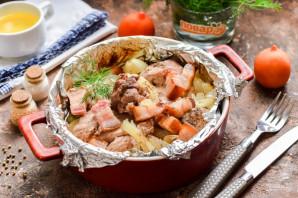 Свинина с салом в духовке - фото шаг 6