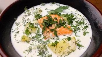 Молочный суп с рыбой - фото шаг 6