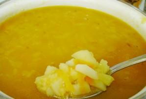 Постный гороховый суп без копченостей - фото шаг 4