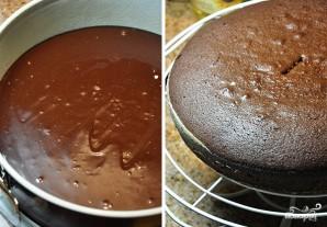 Шоколадный торт с заварным кремом - фото шаг 5