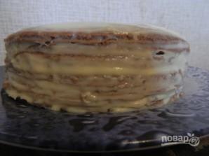 Быстрый торт на сковороде с заварным кремом - фото шаг 17