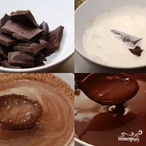 Шоколадный торт с ириской - фото шаг 9