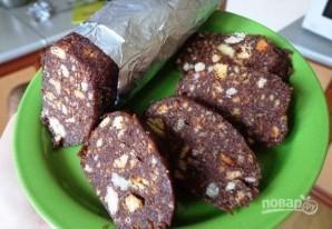 Сладкая колбаса из печенья со сгущенкой - фото шаг 5