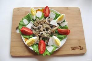 Теплый салат из шампиньонов с топинамбуром - фото шаг 10