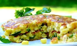 Кукурузный пирог с базиликом - фото шаг 4