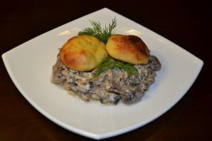 Грибное рагу с картофельными лепешками - фото шаг 8