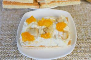 Бисквитное фруктовое пирожное - фото шаг 12