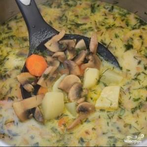 Простой грибной суп - фото шаг 11
