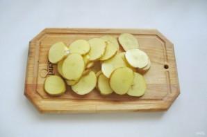 Картофель на шпажках в духовке - фото шаг 1