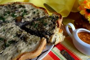 Пирог с печенью и грибами - фото шаг 8