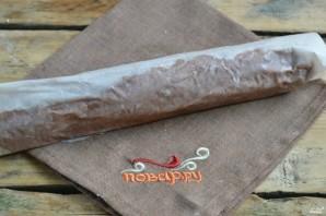 Шоколадная колбаска из печенья - фото шаг 6