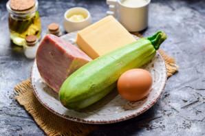 Оладьи из кабачков с ветчиной и сыром - фото шаг 1