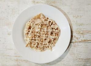 Салат с картошкой, курицей, грибами и сыром - фото шаг 3