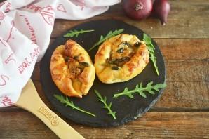 Пирожки-лодочки с сырно-грибной начинкой - фото шаг 9