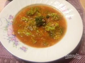 Томатный суп с рисом и брокколи - фото шаг 8