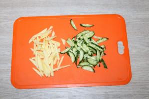 Диетический зелёный салат - фото шаг 2