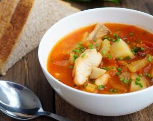 Томатный суп с рыбой - фото шаг 11