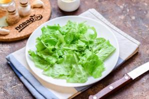 Салат с креветками и сыром фета - фото шаг 2
