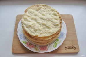 "Торт ""Наполеон"" со сливочным кремом - фото шаг 9"