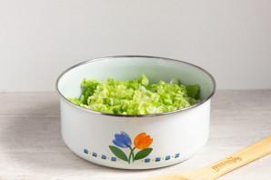 Зеленый салат с пекинской капустой - фото шаг 3