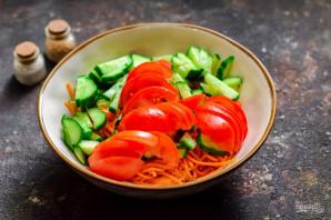 """Салат """"Муравейник"""" с корейской морковью - фото шаг 4"""
