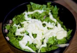 Салат с горошком и ананасом - фото шаг 6