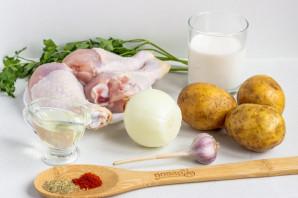 Курица в сливках с картофелем - фото шаг 1