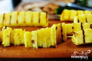 Кесадилья с курицей и ананасами - фото шаг 4