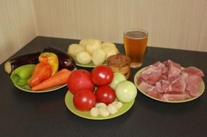 Хашлама из говядины с картошкой - фото шаг 1