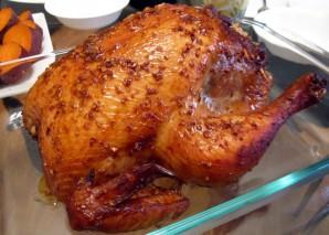 Курица, фаршированная рисом, в духовке - фото шаг 3