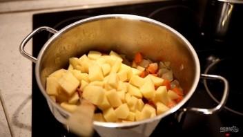 Тыквенный крем-суп со сливками и сыром - фото шаг 3