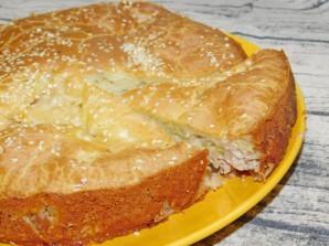 Заливной пирог с картошкой и фаршем - фото шаг 6
