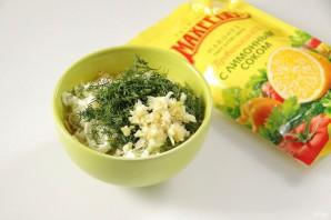 """Закуска """"Сырные шарики"""" с кунжутом и оливками - фото шаг 4"""