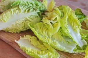 """Салат """"Цезарь"""" с курицей и помидорами - фото шаг 5"""