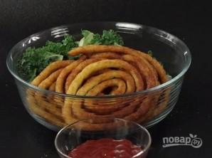 Картофельные спиральки - фото шаг 9