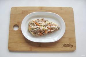 "Мясной салат ""Крыска"" - фото шаг 9"