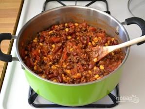Макароны с фасолью в томатном соусе - фото шаг 5