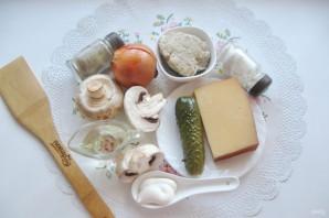 Салат с мясом и жареными шампиньонами - фото шаг 1