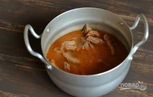 Говядина, тушеная в томатной пасте - фото шаг 7