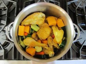 Курица с кускусом и овощами - фото шаг 5
