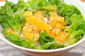 Апельсиновый салат с зеленью - фото шаг 7